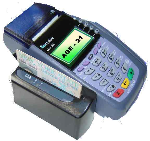 Verifone VX570 with Barcode Reader