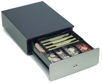 Mmf Mobile Small Portable Cash Drawers With Cash Tray